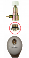 Adaptér kyslík z M24 na M10