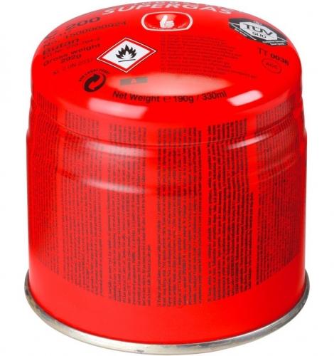 Butánová kartuša Supergas C200, 190g/330ml