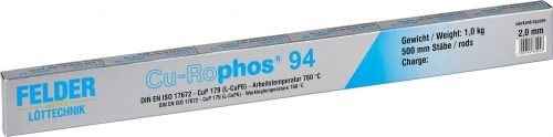 Felder tvrdá spájka Cu-Rophos 94(L-CuP6, 2x500mm, 1kg)