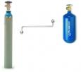 Plniaci adaptér-prepúšťač z 10kg do 2kg kyslíkovej fľaše