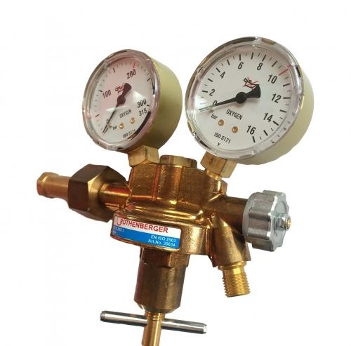Rothenberger regulátor tlaku pre kyslík 200bar, 2 manometre